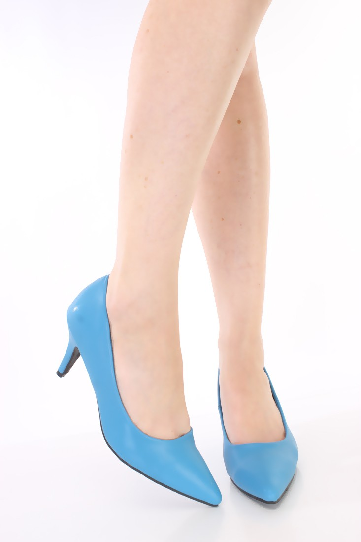 d53b1aa23c8 Turquoise Pointy Toe Classic Low Heel Pumps – MyFashionMyTrends